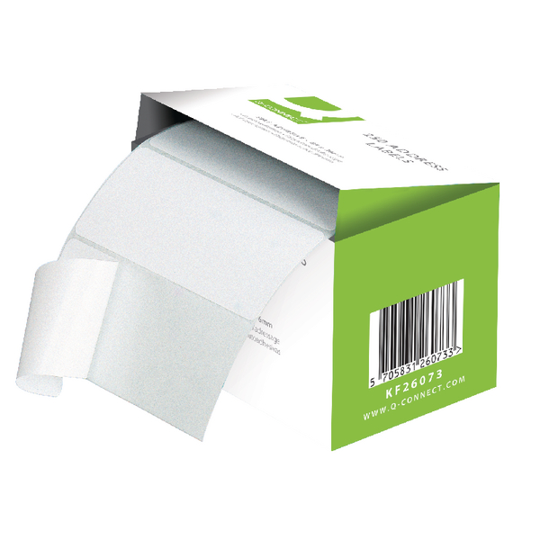 Q-Connect Address Label Roll Self Adhesive 76x50mm White (Pack of 1500) 9320029