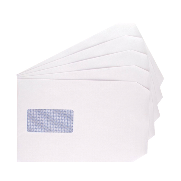 Q-Connect C5 Envelopes Window Pocket Self Seal 100gsm White (Pack of 500) 9007500