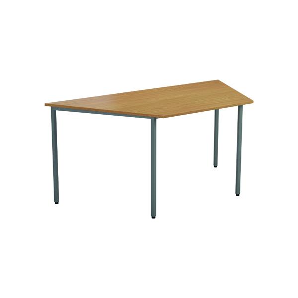 Jemini Trapezoidal Desk 1600 x 800mm Beech OMPT1680TRAPBE2