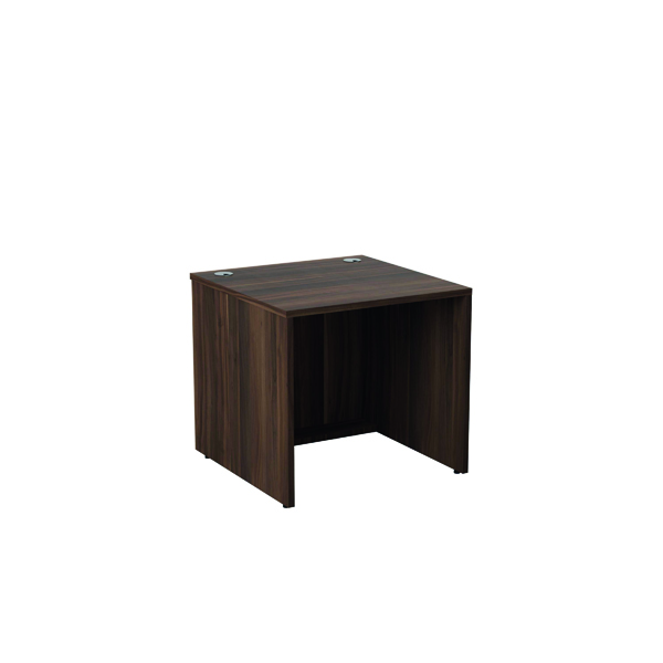 Jemini Reception Modular Desk Unit 800mm Dark Walnut RCM800SBUDW