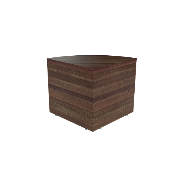 Jemini Reception Modular Corner Desk Unit Dark Walnut RCMCBDW