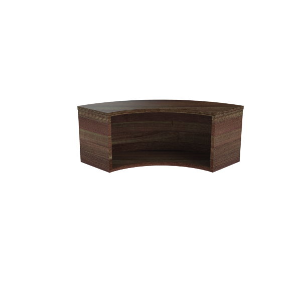 Jemini Reception Modular Corner Riser Unit Dark Walnut RCMCHDW