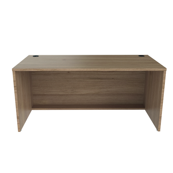 Jemini Reception Modular Desk Unit 1600mm Grey Oak RCM1600SBUGO
