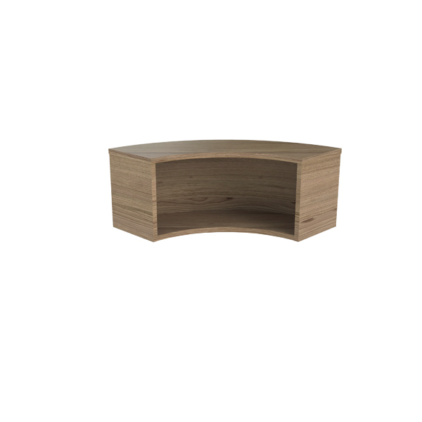Jemini Reception Modular Corner Riser Unit Grey Oak RCMCHGO