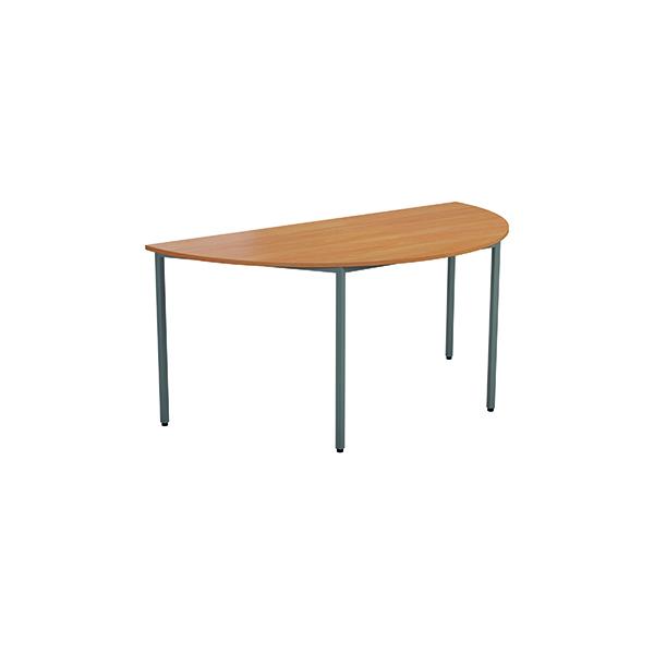 Jemini Semi Circular Desk 1600 x 800mm V2 Beech OMPT1680SEMIBE2