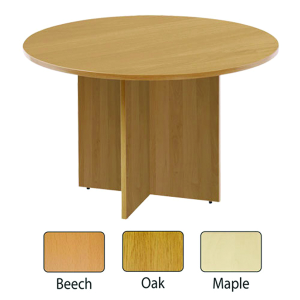 Arista Oak 1100mm Round Meeting Table KF72050