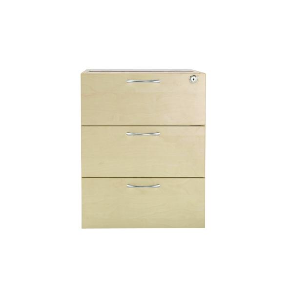 Jemini Maple 3 Drawer Fixed Pedestal KF72080