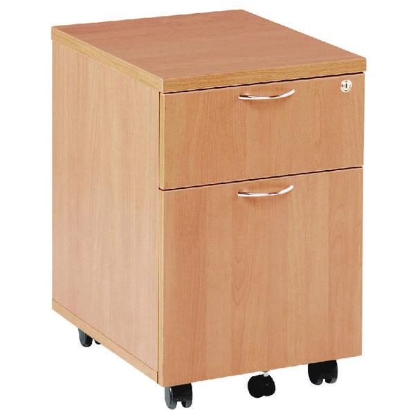 Jemini Beech 2 Drawer Mobile Pedestal KF72081