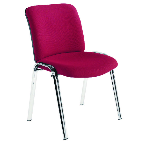 Avior Conference High Back Chrome Chair Claret KF72261