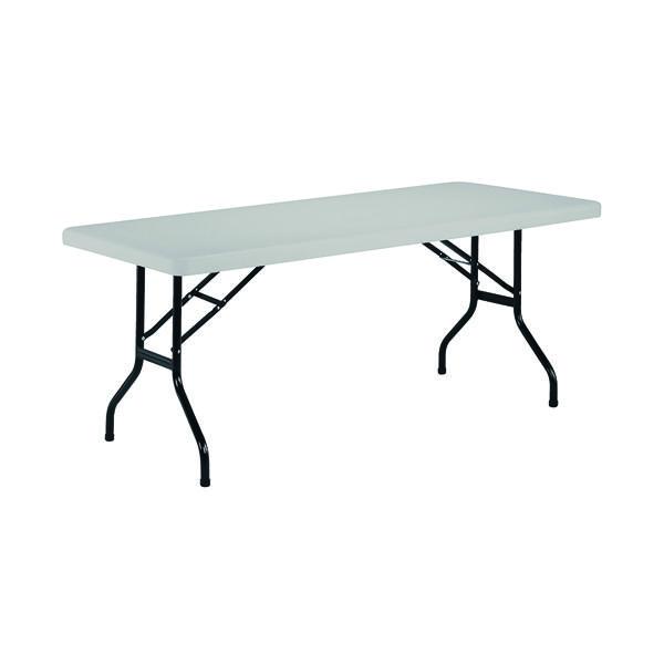 Jemini White 1220mm Folding Rectangular Table KF72328