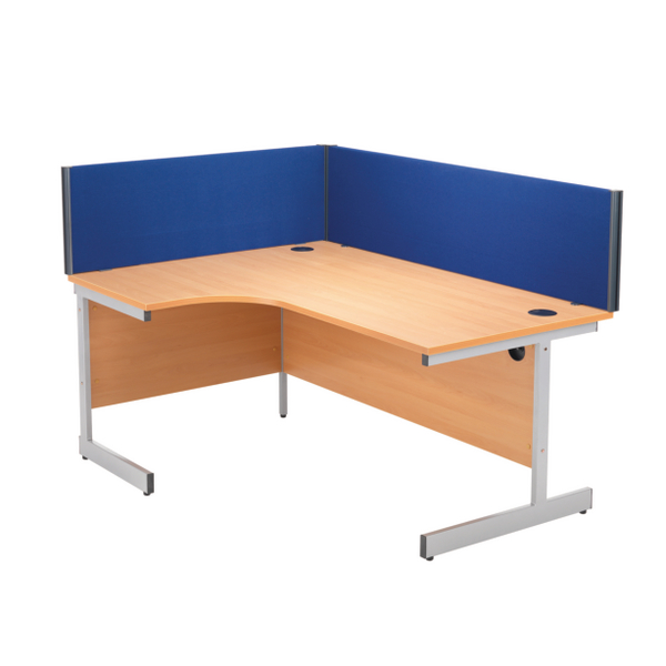Jemini Blue 1200mm Straight Desk Screen KF73913