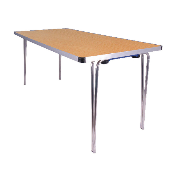 Jemini Saxon Oak W1520xD685xH698mm Folding Table KF74025