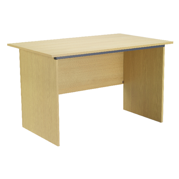 Serrion Ferrera Oak 1000mm Panel End Desk (W1000 x D750 x H726mm) KF74126