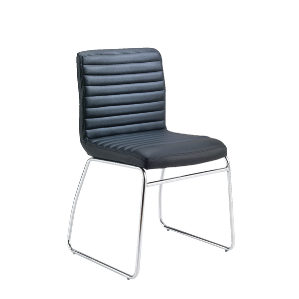 Jemini Dart Leather Look Visitor Chair Black KF74189