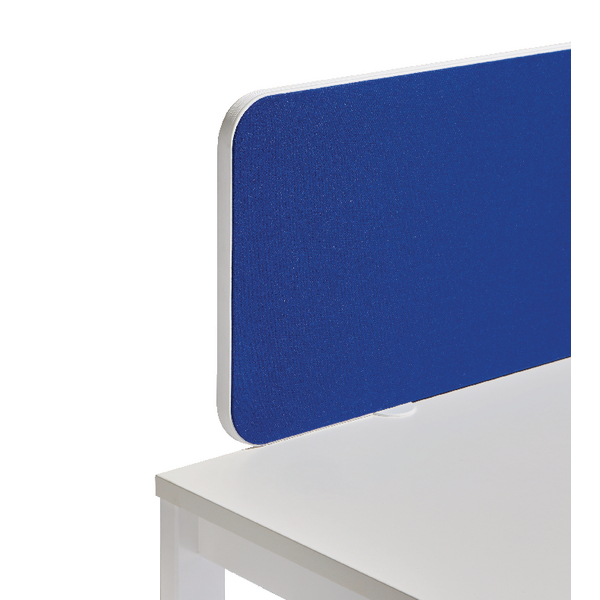 Jemini Straight Rounded Corner Screen White Trim Blue 1600mm KF74262