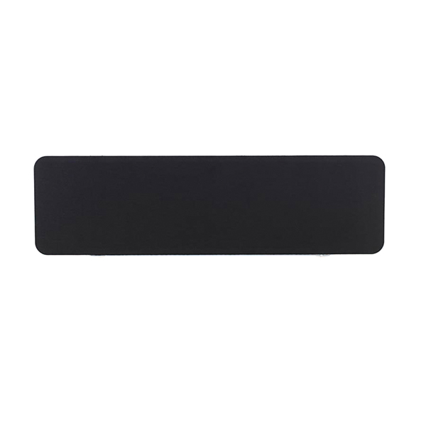 Jemini Straight Rounded Corner Screen White Trim Black 1800mm KF74267