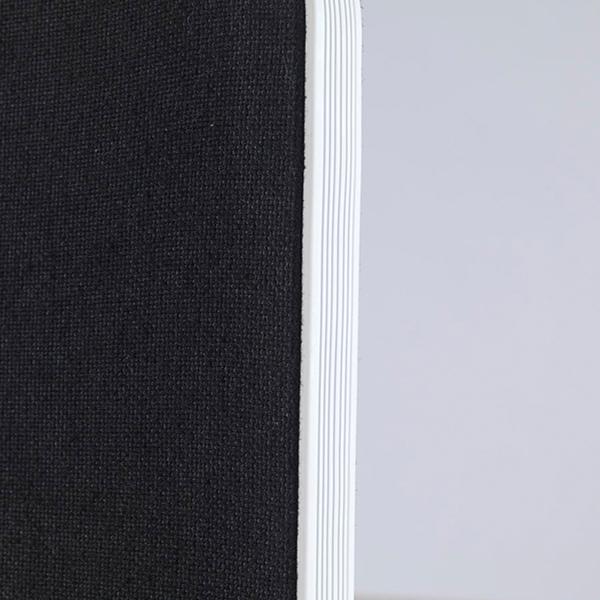 Jemini Straight Rounded Corner Desktop Return Screen White Trim 800mm Black KF74269