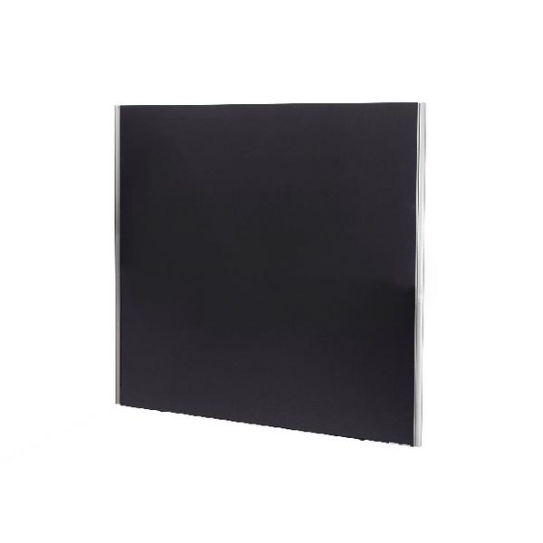 Jemini Black 1800x1600 Floor Standing Screen Including Feet KF74339