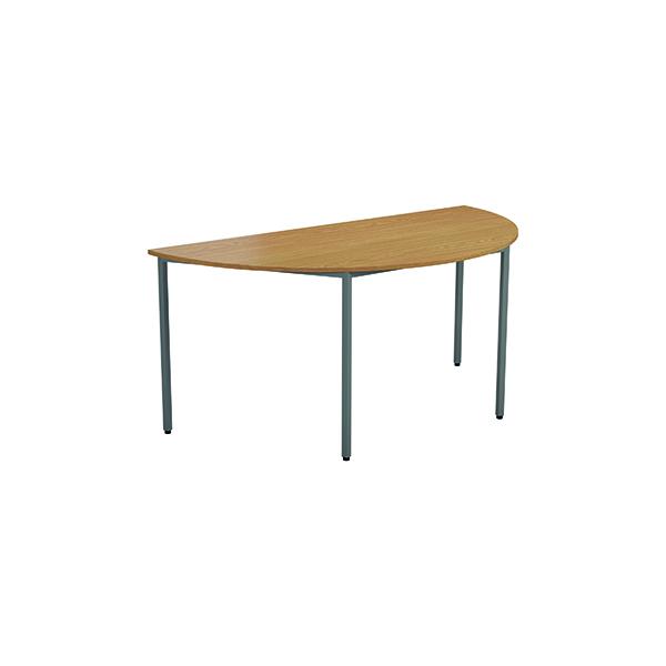 Jemini Semi Circular Desk 1600 x 800mm  Nova Oak OMPT1680SEMINO