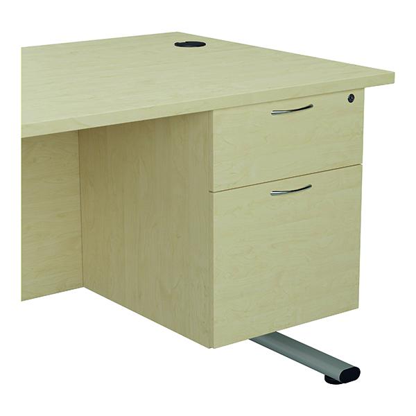 Jemini 655 Fixed Pedestal 2 Drawer Maple KF74414