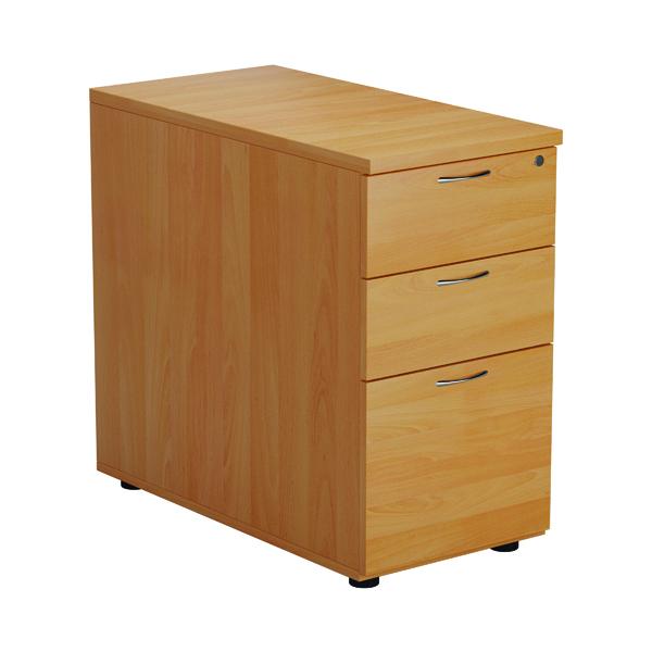 FF Jemini Beech 3 Drawer Desk High Pedestal 800 V2 TESDHP3/800BE2