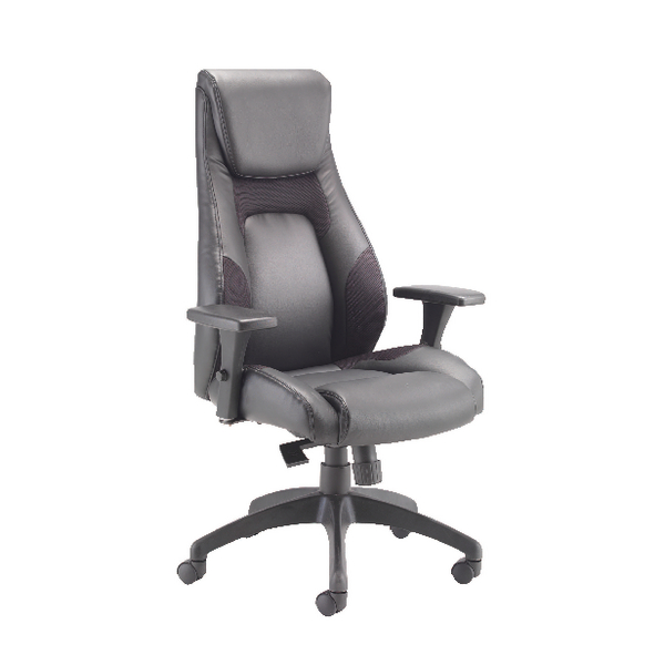 Avior Veloce Leather Look and Mesh Chair (Seat height can be adjusted) KF74495