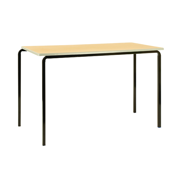 Jemini PU Edged Class Table W1100 x D550 x H590mm Beech/Black (Pack of 4) KF74562