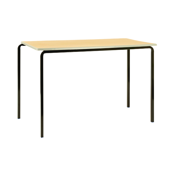 Jemini PU Edged Class Table W1200 x D600 x H590mm Beech/Black (Pack of 4) KF74563