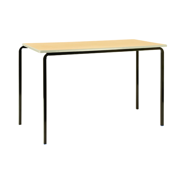 Jemini PU Edged Class Table W1100 x D550 x H760mm Beech/Black (Pack of 4) KF74566