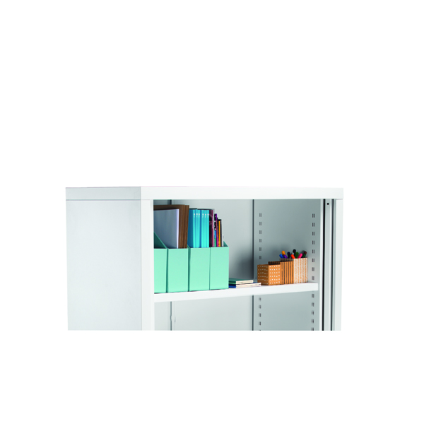 First Steel Tambour Combi Shelf Silver for W1000mm
