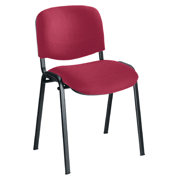 First Ultra Multi Purpose Stacker Claret (Fabric upholstered seat and back) KF74892