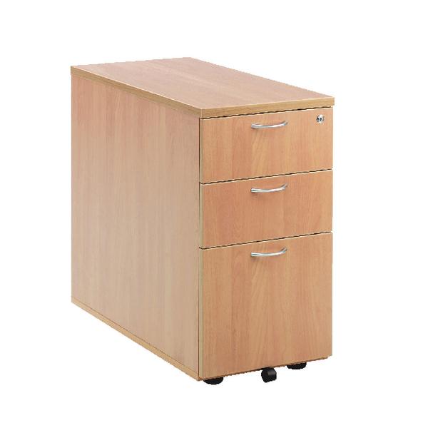 First Desk High Pedestal 3 Drawer 800mm Deep Beech KF74911