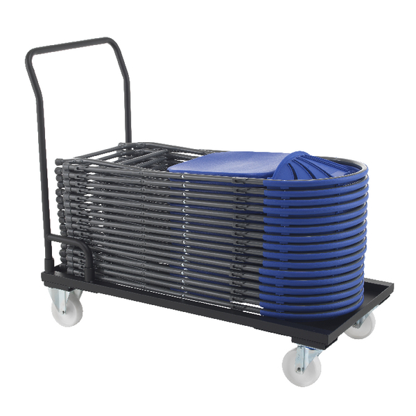 Titan Folding Chair Trolley Black (W540 x D1120 x H1000mm) KF78659