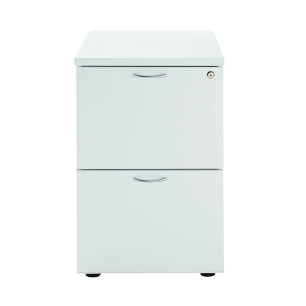 Jemini White 2 Drawer Filing Cabinet KF78666