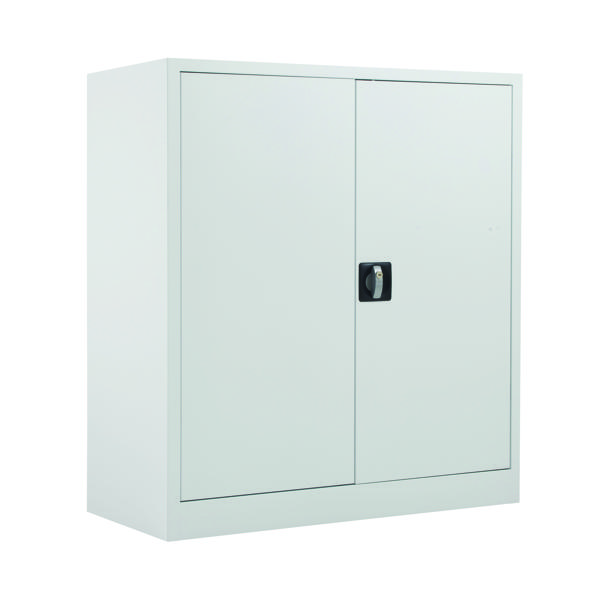 Talos Double Door Stationery Cupboard 1000 White KF78753