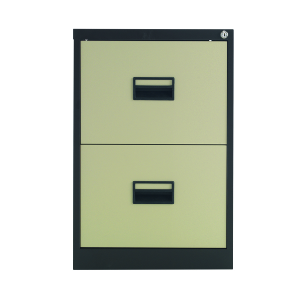 Talos 2 Drawer Filing Cabinet Coffee Cream KF78763