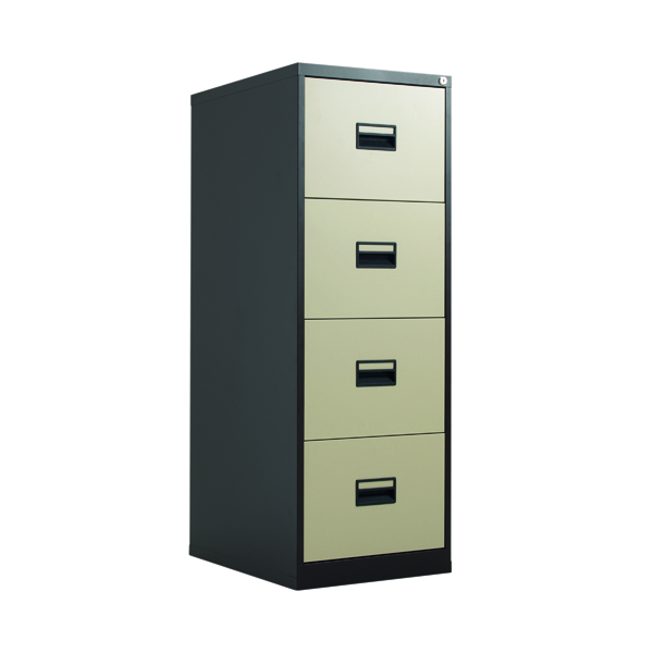 Talos 4 Drawer Filing Cabinet Coffee Cream KF78771