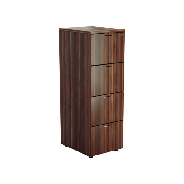 Jemini Walnut 4 Drawer Filing Cabinet KF78954