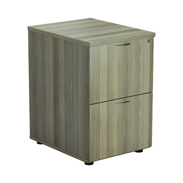 Jemini Grey Oak 2 Drawer Filing Cabinet (Dimensions: W465 x D600 x H710mm) KF78957