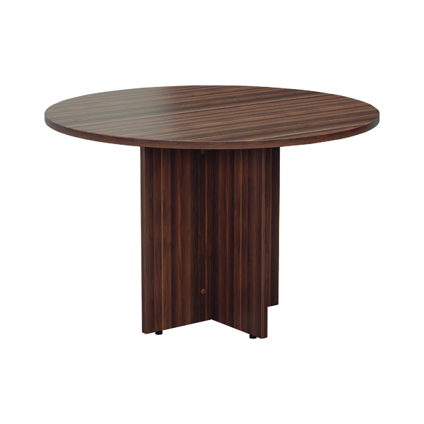 Jemini Grey Oak Round D1200 Meeting Table (Diameter: 1200mm, height: 730mm) KF78959