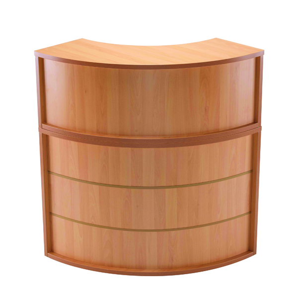 Jemini Beech Radial Reception Hutch Unit (Dimensions: W800 x D300 x H405mm) KF78971