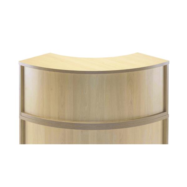 Jemini Maple Radial Reception Hutch Unit (Dimensions: W800 x D300 x H405mm) KF78975