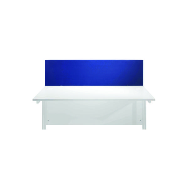 Jemini Blue 1600mm Straight Desk Screen (Dimensions: 1600mm x 28mm x 400mm) KF78981