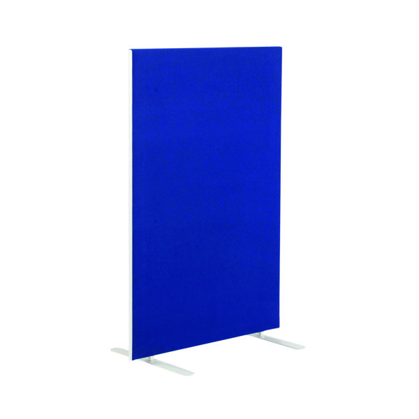 Jemini Blue 1600mm Floor Standing Screen (W1200 x D28 x H1600mm) KF78991