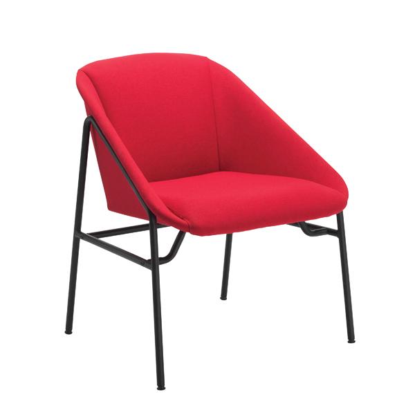 Jemini Red Bistro Reception Armchair KF79134