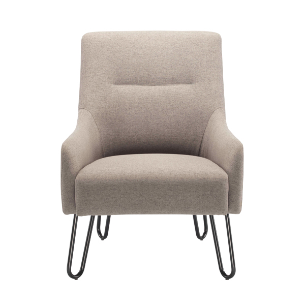 Jemini Grey Reception Armchair KF79142