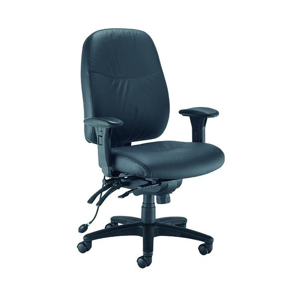 Avior Snowden Heavy Duty Chair Black PU (Adjustable seat height - 485 - 585mm) KF79229