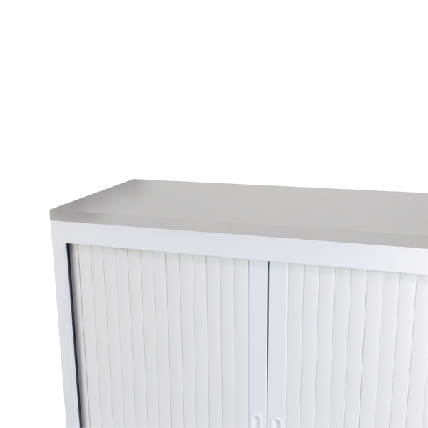 Talos Tambour Wooden Top White W1000 x D450 x H25mm TCS-TAM-TOPWH