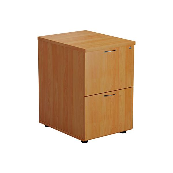 FF Jemini Beech 2 Drawer Filing Cabinet Version 2 TES2FCBE2