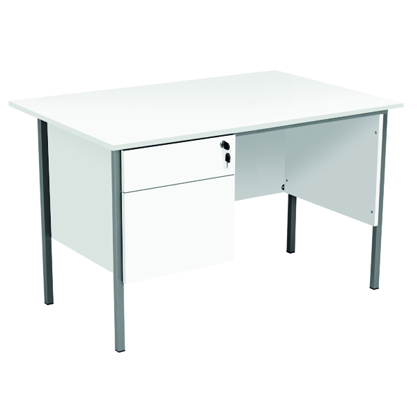 Serrion Eco 18 Rectangular Panel End Desk 1200 x 750mm White KF79822